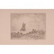 Galerie Seydoux, Félix BUHOT, La petite marine, Souvenir de Medway
