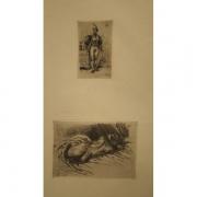 Galerie Seydoux, Eugène DELACROIX, Un homme d'armes du temps de François Ier, Etude de femme vue de dos