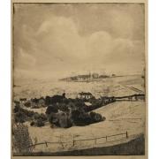 Galerie Seydoux - Estampe - Francis JOURDAIN - Paysage de Normandie