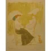 Galerie Seydoux - Estampe - Emile MALO-RENAULT - Mère et fille