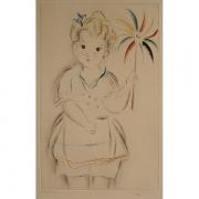 Galerie Seydoux - Estampe - Mily POSSOZ - La fillette au moulinet
