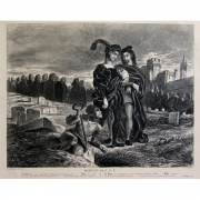 Galerie Seydoux - Estampes - Eugène DELACROIX - Hamlet contemplant le crâne d'Yorick