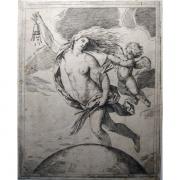 Galerie Seydoux - Estampes - Girolamo SCARSELLO - La Fortune volant au-dessus du globe