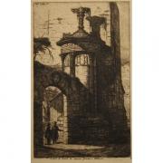 Galerie Seydoux - Estampes - Charles Meyrion - Entrée du Couvent des Capucins à Athènes